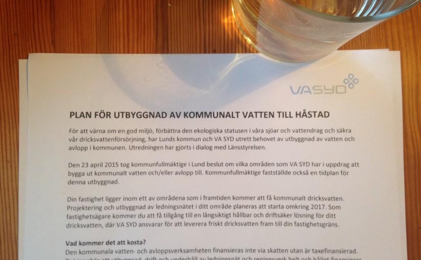 Kommunalt vatten till Håstad